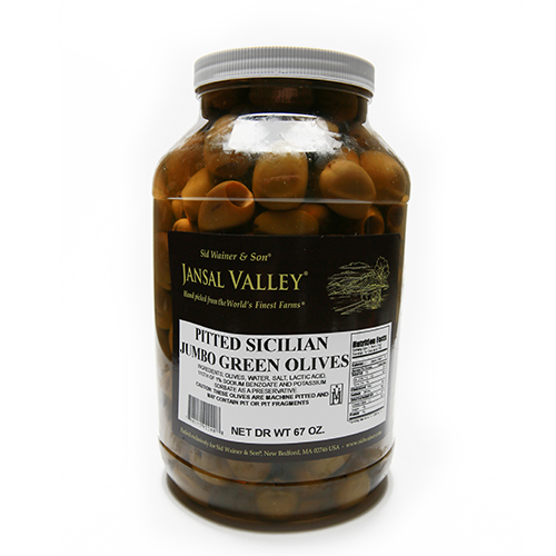 Pitted Sicilian Jumbo Green Olives
